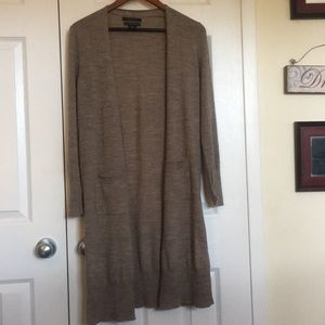 Tahari merino wool cardigan - long!